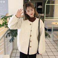 秋冬女装新款韩版学院风宽松羊羔毛外套加厚棒球服夹克学生上衣潮