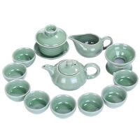 唐丰功夫茶具套装家用客厅泡茶仿宋哥窑整套茶道茶壶喝茶茶杯