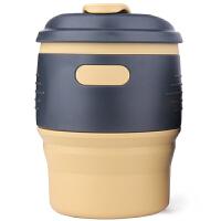 户外旅行咖啡杯折叠式便携硅胶水杯随身伸缩创意漱口杯