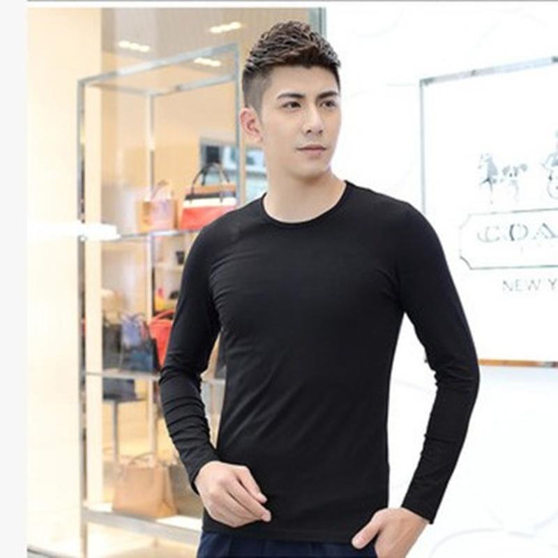 韩观男士内衣莫代尔秋衣上衣单件超薄款打底衫保暖内衣上衣男  185(XXXL) 160-190斤