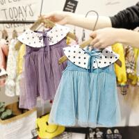 1-3岁女宝宝连衣裙女婴儿夏装韩版拼接网纱裙子3小女童背心裙