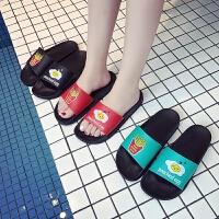 夏季女居家室内拖鞋浴室洗澡塑料防滑软底可爱家居女式凉拖鞋夏天
