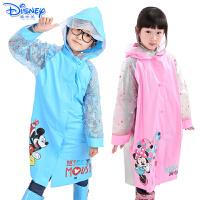迪士尼儿童带书包位雨衣充气帽檐带夜行反光条学生雨衣YQ1003