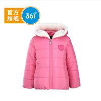 361度童装 儿童冬季女童短女童加厚外套儿童外套 K66535021