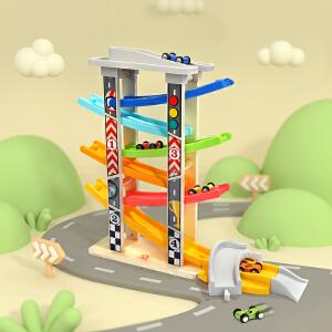 特宝儿 六轨竞速滑翔车1-2岁3周岁男宝宝轨道车益智玩具车模型套装儿童小汽车套装组合120334
