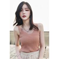 吊带背心女外穿2018新款韩版内搭短款紧身打底衫V领性感上衣 均码