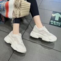 夏季运动鞋女时尚新款韩版网面透气时尚厚底小白鞋ins潮流老爹鞋