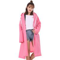 电瓶车代驾雨衣电动摩托车女式韩版徒步旅行男骑行自行车背包加厚3合1 拉链款雨衣 粉色