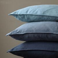 45x45 60x60 30x45cm 纯色棉麻 沙发抱枕套靠垫套腰枕 9色可选