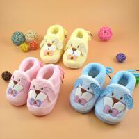 for kids/禾子家 冬季新款婴儿鞋1岁女宝宝保暖鞋加绒舒适学步棉鞋0-6-12个月