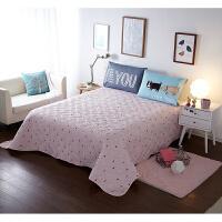 北欧全棉床盖三件套纯棉双层夹棉加厚绗缝被床罩床单床垫单件 175*215 单床盖
