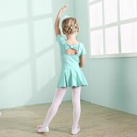 儿童舞蹈服夏季春秋女童拉丁舞民族舞练功服小孩中国风舞蹈裙纯棉