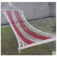 户外室内网状吊床棍吊床秋千单人加厚加粗棉绳带木