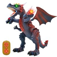 遥控电动恐龙玩具模型 会走路发声 早教智能三头龙儿童玩具