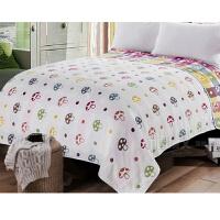 纱布被子6层全纯棉纱单双人空调被毛巾毯休闲午睡床单 白色 六层蘑菇