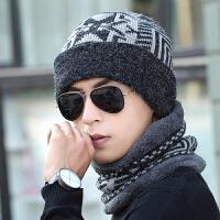 针织毛线帽男包头围脖帽冬季套头帽潮女士情侣脖套帽