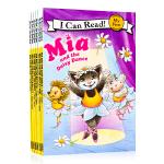 My First I Can Read英文原版绘本mia系列芭蕾小猫米娅8本套装入门绘本 汪培�E一阶段推荐书单 儿童亲