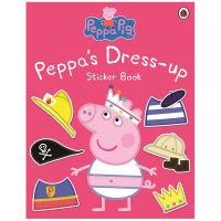 【预订】Peppa Pig Peppa's Dress-up 粉红猪小妹:装扮贴纸书 英文原版进口图书 3-6岁儿童贴纸书