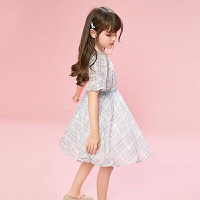 女童雪纺连衣裙夏装儿童装女孩女公主裙子