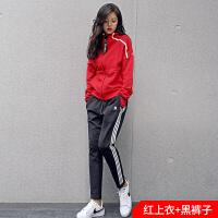 韩版秋冬运动套装女瑜伽服修身时尚休闲新款身房显瘦户外跑步套装