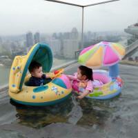 儿童游泳圈 腋下圈0-3-5岁小孩新生幼儿童泳圈宝宝遮阳蓬坐圈