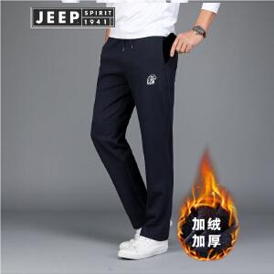 JEEP吉普针织卫裤男装春秋冬户外运动长裤男士健身跑步休闲裤男裤