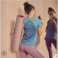 运动上衣女紧身衣修身健身服跑步速干半袖T恤透气瑜伽短袖女户外新品
