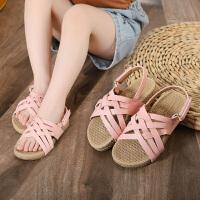 时尚镂空女童凉鞋防滑软底儿童室外沙滩鞋透气夏季儿童凉鞋女