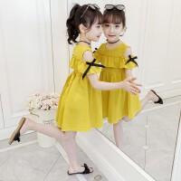 女童夏�b2020新款�和��B衣裙夏季公主裙中大童小女孩裙子短袖