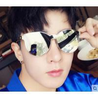 韩版箭头装饰大框太阳镜男士 墨镜圆脸户外太阳眼镜女 时尚遮阳镜