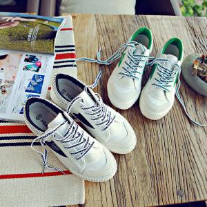 环球 新款帆布鞋百搭韩版平底原宿ulzzang小白鞋