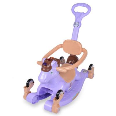 婴儿童摇摇马带音乐推车两用加厚塑料玩具车一周岁宝宝小木马摇椅