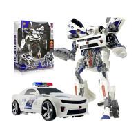 变形玩具金刚5 超大警车声光汽车机器人正版模型男孩儿童玩具礼物