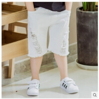 童装男童牛仔裤夏装 儿童短裤中大童裤子中裤夏季