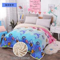 冬季毛毯加厚珊瑚绒1.2m米学生双层毯子单人法兰绒保暖床单人盖毯