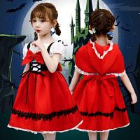 �f圣��和�服�b女童小�t帽表演服cosplay小女孩裙子�B衣裙演出服