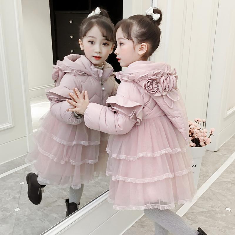 女童棉衣秋冬洋气儿童羽绒宝宝棉袄冬装
