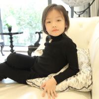 2017秋冬新款童装羊绒衫 纯色圆领套头毛衣女童 中小童打底衫外套