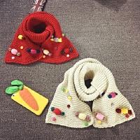 儿童围巾女冬季加厚保暖公主长款针织毛线可爱宝宝围脖韩版秋天潮
