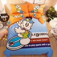 卡通纯棉床上用品四件套全棉儿童可爱床品床单被套三件套男孩女孩