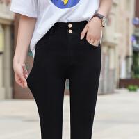 秋季打底裤外穿高腰弹力女裤黑色小脚铅笔裤不抽丝修身显瘦长裤冬