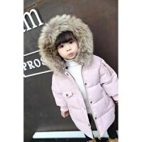 儿童冬装女童棉衣2017新款冬公主加厚连帽中小童棉袄羽绒外套 11码 身高约130cm