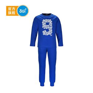 361° 361度童装 男童运动套装运动长裤长袖T恤针织外套2件装套装K56440021