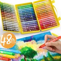 晨光油画棒水溶性儿童画笔彩绘套装幼儿园彩笔可水洗宝宝48色彩色油化批发涂色安全无芯毒36色24色旋转蜡笔