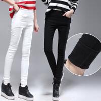 打底裤女士外穿秋冬款加厚加绒小脚铅笔紧身保暖冬季黑色加长女裤