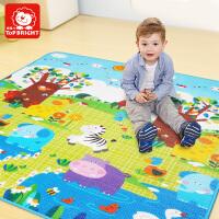 特宝儿岁以上双面动物、字母、数字宝宝爬行垫 婴儿玩具 儿童爬行垫爬爬垫 新生儿双面垫子 防水防滑