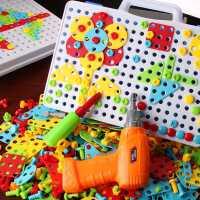 �和�益智力�幽X玩具2男孩4拼�b�e木����早教3�q5小女孩6抖音同款7