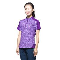 运动跑步大码速干衣男女短袖 户外大码t恤健身夏季速干透气快干衣 61107(女)紫色 M