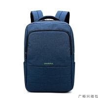 男女士电脑包双肩包hp畅游人暗影精灵手提笔记本背包15.6寸14英寸大学生韩版书包防水防震USB 藏