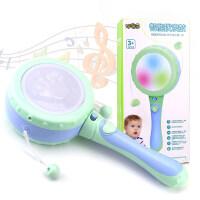 男孩婴儿玩具0-1岁宝宝新生儿男女孩玩具摇铃0-3-6-12个月拨浪鼓 早教 益智玩具 马卡龙色拨浪鼓
